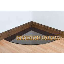 Quadrant Smoked Glass Hearth