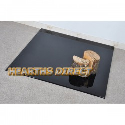 Square Painted Glass Hearth