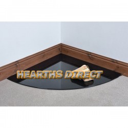 Quadrant Painted Glass Hearth