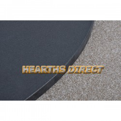 Square Honed Black Granite Hearth