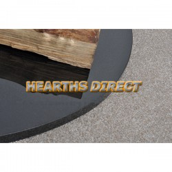 Medium Standard Polished Black Granite Hearth