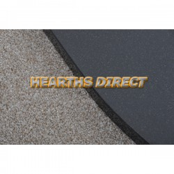 Inset Stove Polished Black Granite Hearth (Curved Corners)