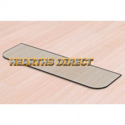 Clear Inset Stove Glass Hearth (Curved Corners)
