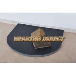 Small Semi-Circle Smooth Slate Hearth