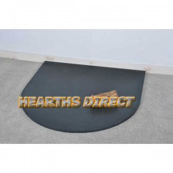 Small Semi-Circle Honed Black Granite Hearth