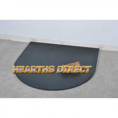 Large Semi-Circle Honed Black Granite Hearth