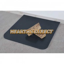 Small Standard Honed Black Granite Hearth