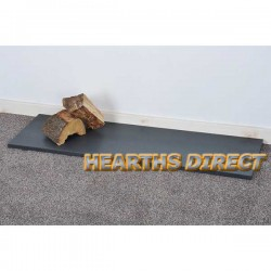 Inset Stove Honed Black Granite Hearth
