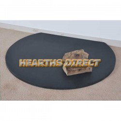 Truncated Honed Black Granite Hearth