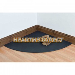 Quadrant Honed Black Granite Hearth