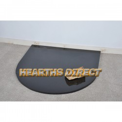 Small Semi-Circle Polished Black Granite Hearth