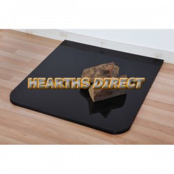 Small Standard Polished Black Granite Hearth