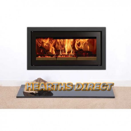 Inset Stove Polished Black Granite Hearth
