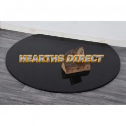 Truncated Polished Black Granite Hearth