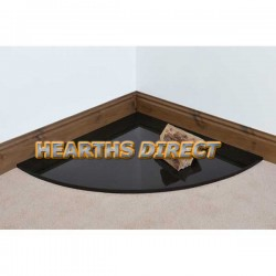 Quadrant Polished Black Granite Hearth