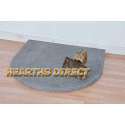 Small Semi-Circle Blue Limestone Hearth