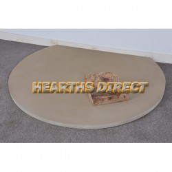 Truncated Beige Sandstone Hearth